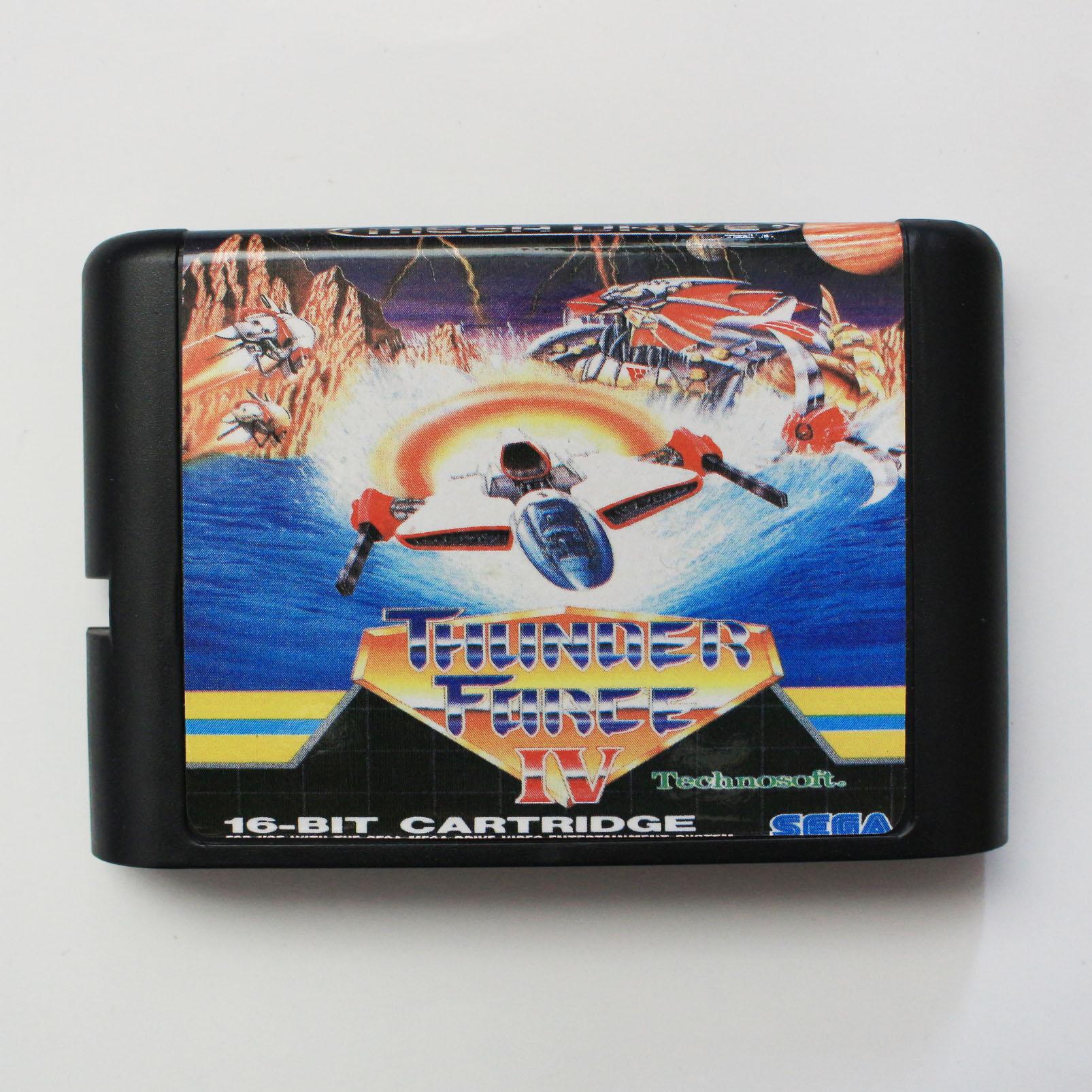 Thunder Force IV PAL-EU 16 bit MD Spiel Karte Für Sega Mega Drive Für Genesis