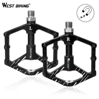 west biking 916 bike pedals 3 sealed bearings aluminium alloy flat bicycle pedals ultralight magnet design mtb cycling pedals