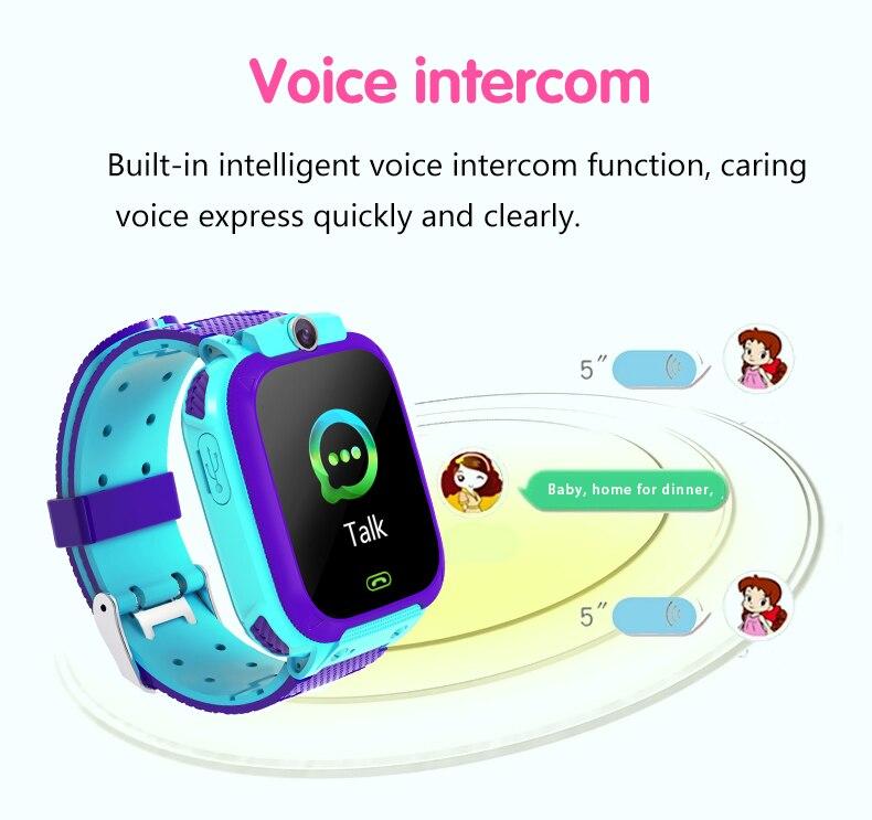 Reloj de pulsera inteligente Q12 para estudiantes, monitor de pantalla remota a Color de ojo, llamada de emergencia, reloj de baja radiación para niños, regalos