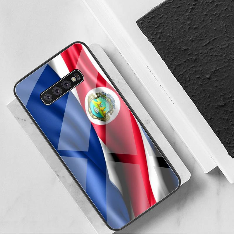 KPUSAGRT Costa Rica flag Phone Case Tempered Glass For Samsung S20 Plus S7 S8 S9 S10 Plus Note 8 9 10 Plus