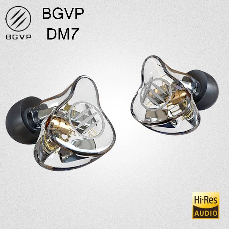 Fone de Ouvido com Cancelamento Bgvp Driver Monitor no Ruído Destacável Cabo Mmcx Áudio Alta Fidelidade dj Música Fones Dm7 6ba