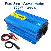 Автомобильный инвертор 12 В постоянного тока до 230 в 600 Вт/1200 Вт Пиковая портативная Автомобильная мощность немодулированный синусоидальный ...