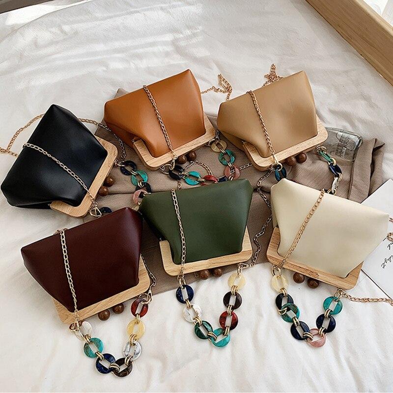 Bolso de mano para mujer estilo bohemio WENYUJH, bolso para boda, Asa acrílica, diseño lujoso de playa, bolsos de hombro de piel sintética para mujer