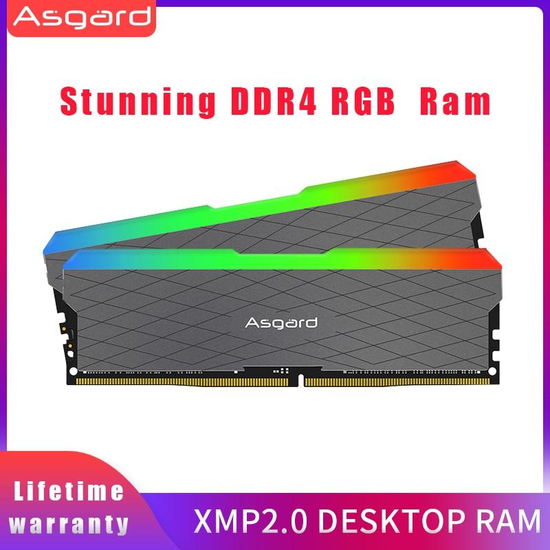 Asagrd وكي w2 seires RGB RAM 8GBx2 16gb 32gb 3200MHz DDR4 ميموريال DIMM ram ddr4 سطح المكتب الذاكرة الكباش للكمبيوتر المزدوج قناة