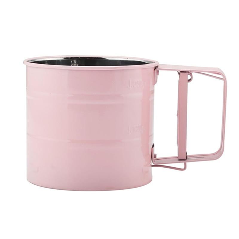 Tamiz de harina de acero inoxidable, Manual para tamiz polvo, harina, glaseado, azúcar, taza tamizadora, horno doméstico para cocina, utensilios de pastelería