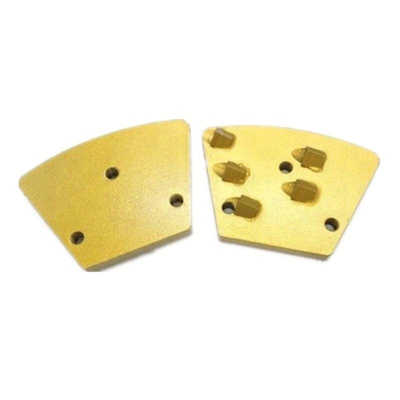 Quality Metal Thread Holes Magnetic PCD Grinding Tools Five Quarter PCD Grinding Shoes for Removing off Epoxy Paints Glue 12PCS