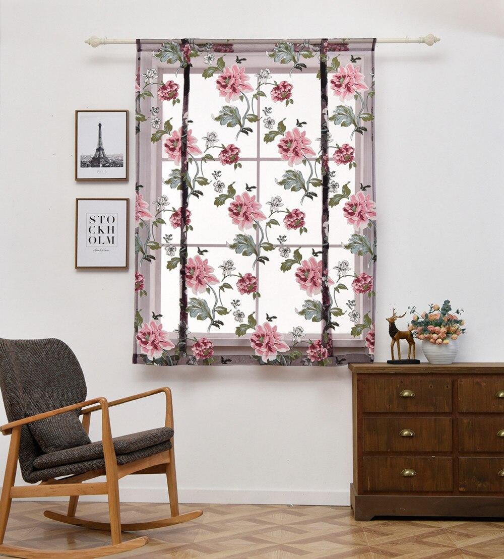 Romano cortinas para sala de estar estor de cocina tul para dormitorio...
