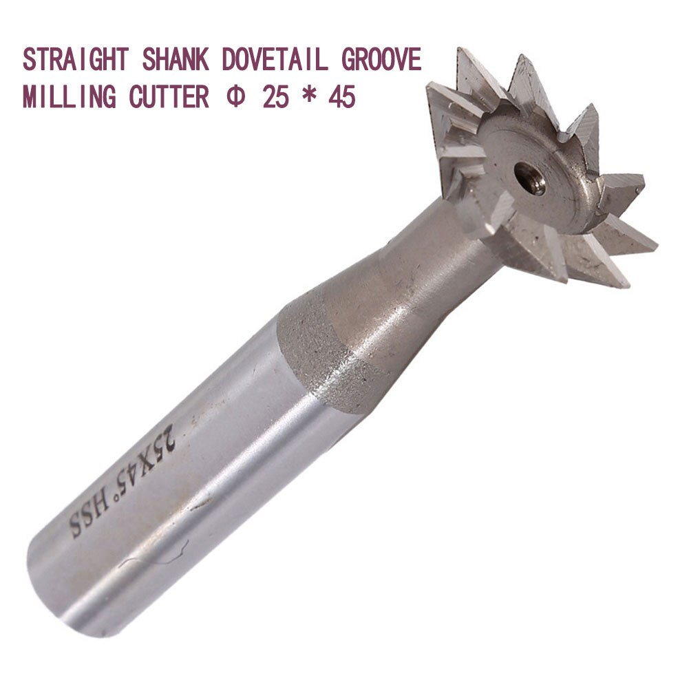 25mm 45 Degree HSS Straight Shank HSS Dovetail Milling Cutter End Mill Smooth Cutting Groove Milling High Speed Steel Tool Bit enlarge