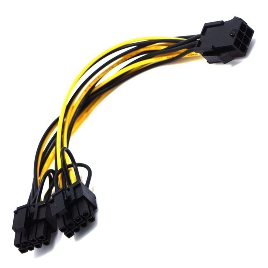 pci e 6 pin female to dual 2 port 8 pin 6 2 pin male gpu video card power adapter cable for graphics card 1/2/4pcs Power Cable 6-pin PCI Express to 2 x PCIe 8 (6+2) pin Motherboard Graphics Video Card PCI-e GPU VGA Splitter