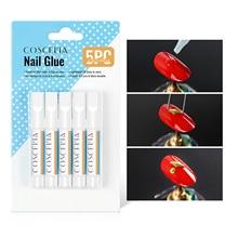 5pcs Fast Drying Nail Art Glue For False Nails Nail Accessories For Glitter UV Acrylic Rhinestones D