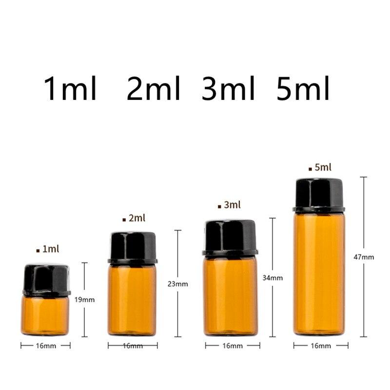 100 kosov 1ml 2ml 3ml 5ml stekleničke s plastičnim vložkom in pokrovčkom