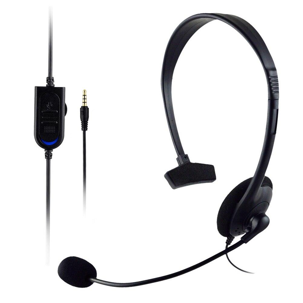 Auriculares con cable, auriculares de un solo lado, auriculares de tráfico con pegatina de recubrimiento de PU, auriculares de Chat en línea, auriculares con micrófono para máquina de juegos.