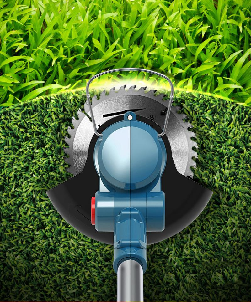 21v Portable Electric Grass Trimmer Handheld Lawn Mower Agricultural Household Cordless Weeder Garden Pruning Power Tool Battery