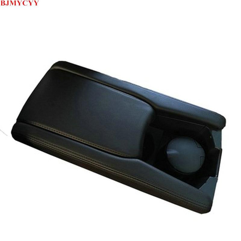 Bjmycyy couro console do carro caixa de apoio braço capa manga almofada centro armazenamento caso capa esteira para honda civic 10th 2017 2018