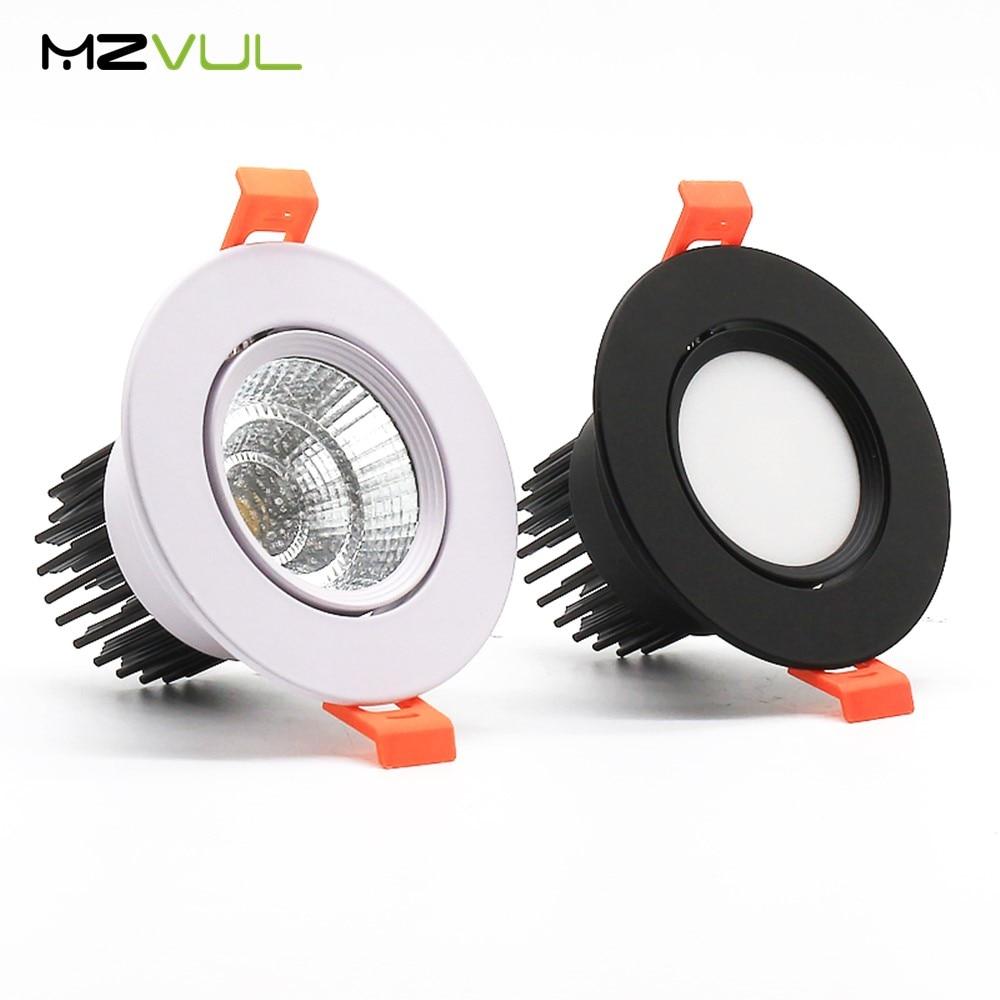 Luz descendente LED regulable 12W 7W 5W lámpara empotrada redonda 220V 110V bombilla Led para dormitorio cocina foco LED interior