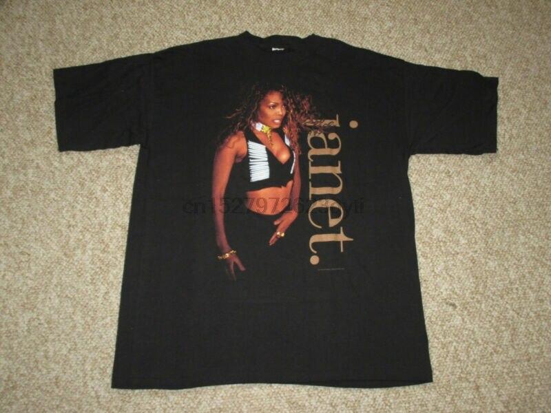 Vtg Nos 1993, camiseta de la gira sobre el Hip Hop Rnb de Jane Jackson, talla estadounidense, reestampado