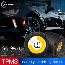 Bluetooth TPMS Motorcycle Tyre Pressure External Sensor Car Tire Temperature And Pressure Monitoring