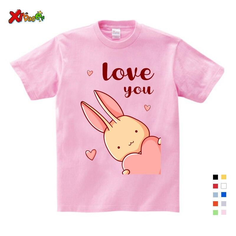 T-shirt for Boys Girls Summer Short Sleeve T Shirt Kid Cute Rabbit Princess Print Hip Hop Fashion Casual Baby Clothes