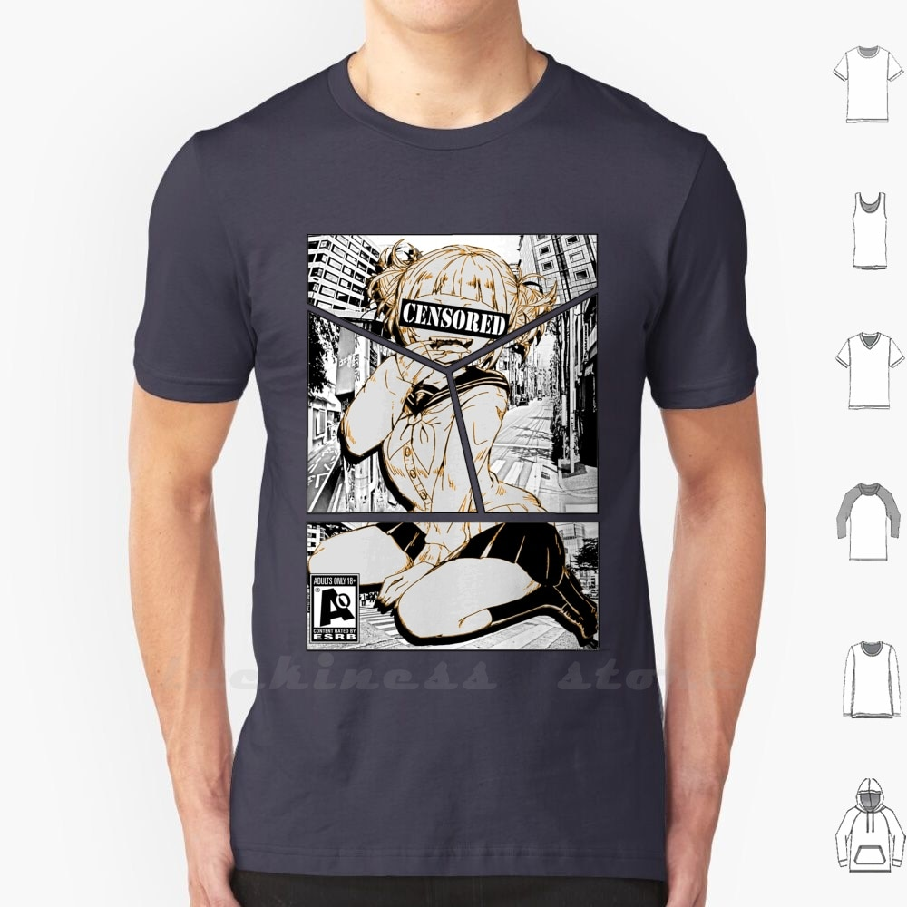 Camiseta de algodón con inscripción explay-Edit para hombres y mujeres, Anime adolescente Esrb Chica de Anime, Boko No Hero, Academia Himiko Toga Himiko