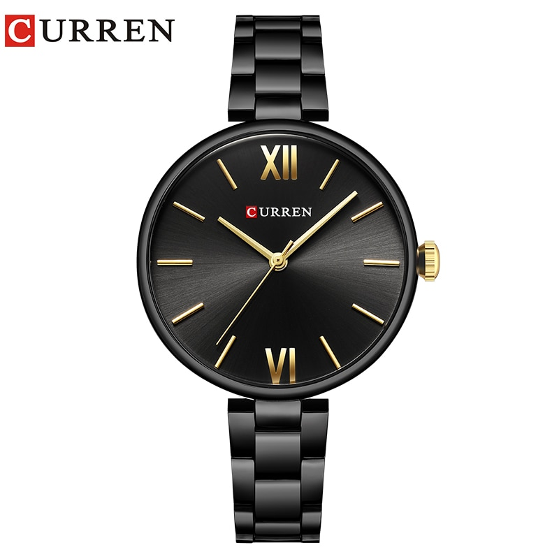 CURREN Women Watch Fashion Luxury Watch Reloj Mujer Stainless Steel  Female Clock Quartz Bracelet Wr