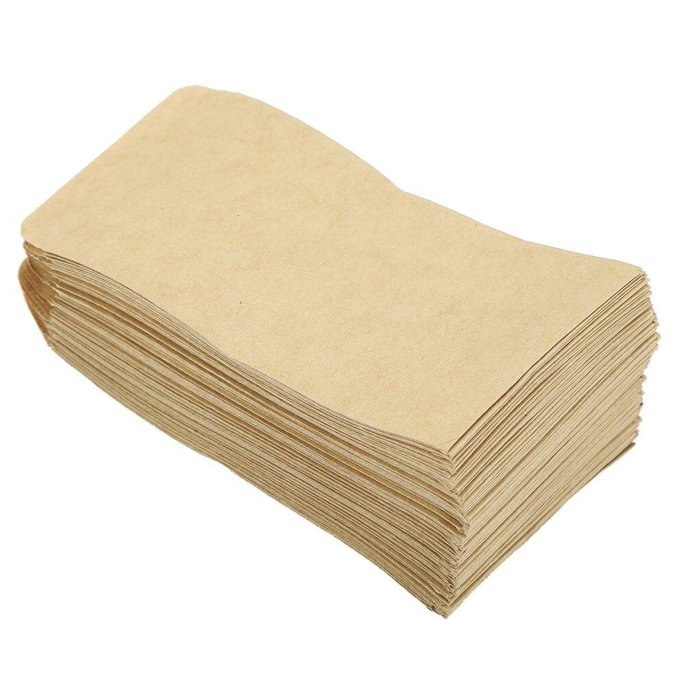 100PCS/Set Kraft Paper Sealable Aluminum Foil Inside Ziplock Food Candy Package Bag Small Flat Bottom Gold Zip Lock Bag