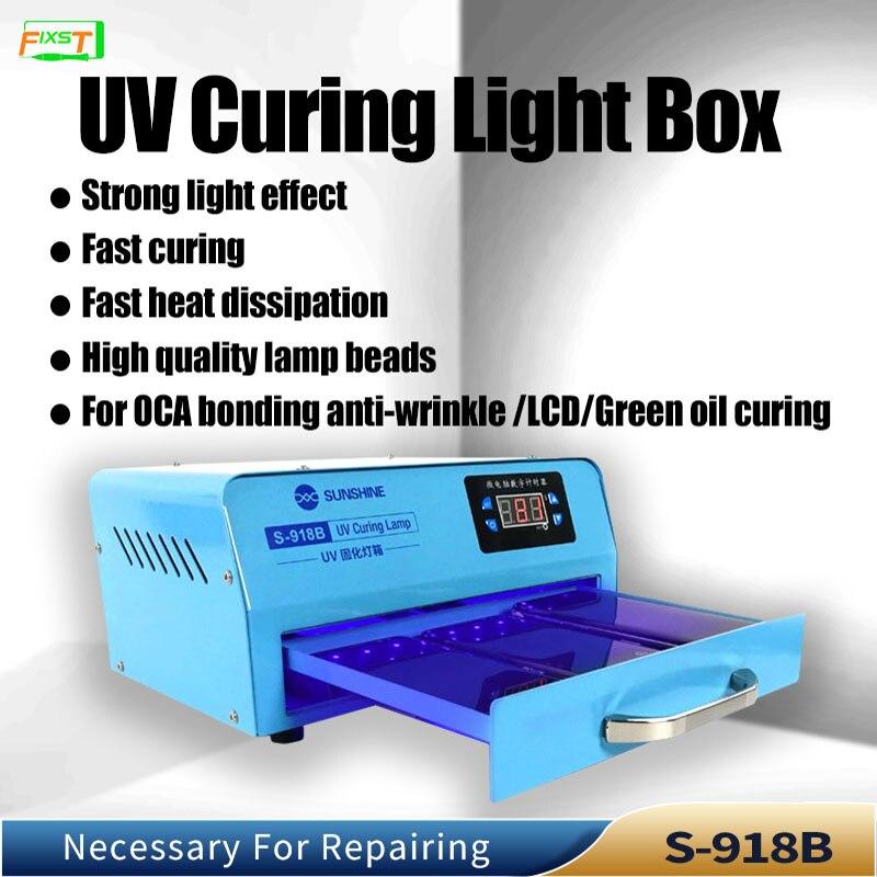 SUNSHING, коробка для ламп для УФ-отверждения, быстрое отверждение, высококачественные лампы для Оса, склеивание, защита от морщин, ЖК-дисплей, З...