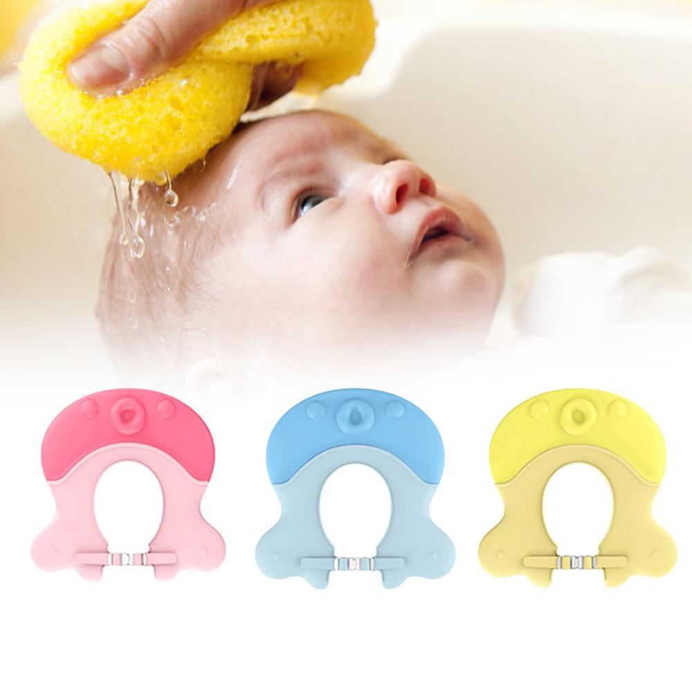 Novedad en champú para bebé con forma de pulpo, gorro de ducha para bebé, gorro de baño ajustable para proteger el cabello, gorro resistente al agua para niños, gorros infantiles