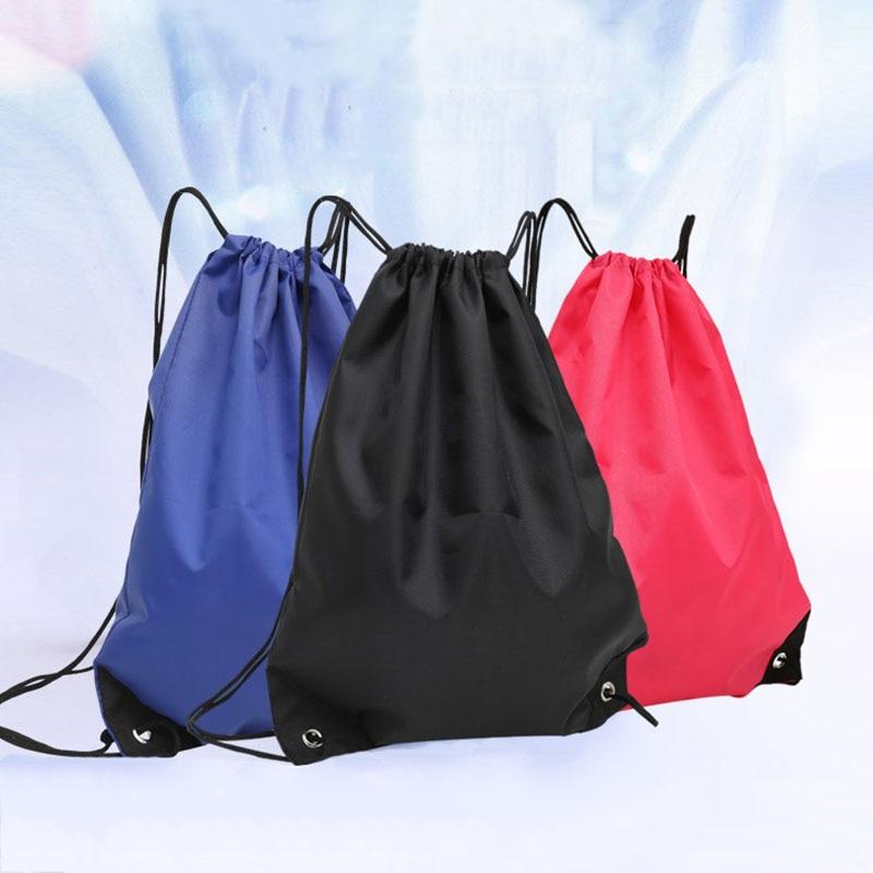 Waterproof Foldable Gym Bag Fitness Backpack Drawstring Shop Pocket Hiking Camping Beach Swimming Me