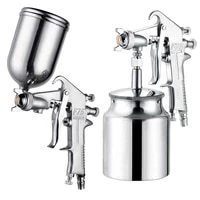 400ml spray gun professional pneumatic airbrush sprayer alloy painting atomizer tool with hopper for painting cars