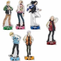 20pcs anime tokyo revengers figure cosplay acrylic stands manjiro ken atsushi model plate fans gift collection props wholesale