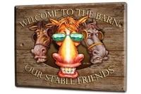 ravtive funny cows barn friends sunglasses fun tin sign
