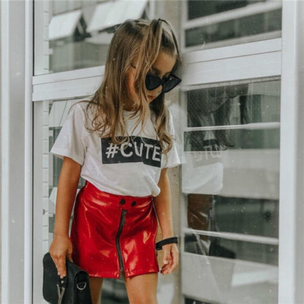 Gran oferta de ropa para bebés y niñas pequeños, minifalda de piel de lentejuelas con letras Lisas para verano y otoño, ropa de 0-5y