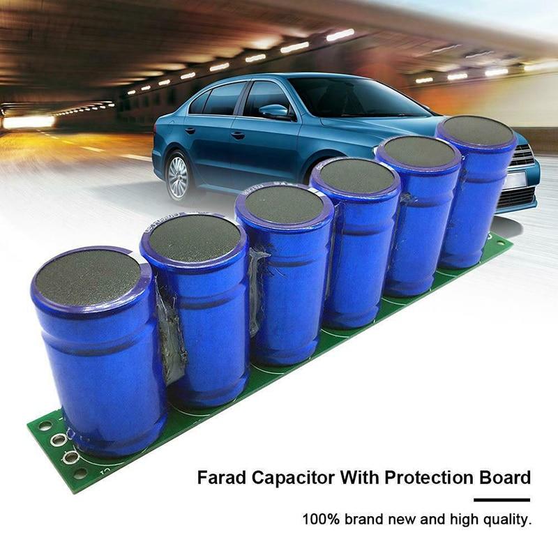 1Set/6Pcs Farad Capacitor 2.7V 500F Super Capacitor with Protection Board GDeals