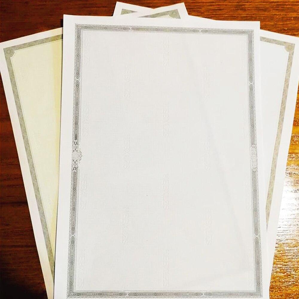 50 листов в пакете A4, сертификат для печати, основная внутренняя страничка, премиальный ретро-Бумажный Сертификат по завершению, новый стиль,...