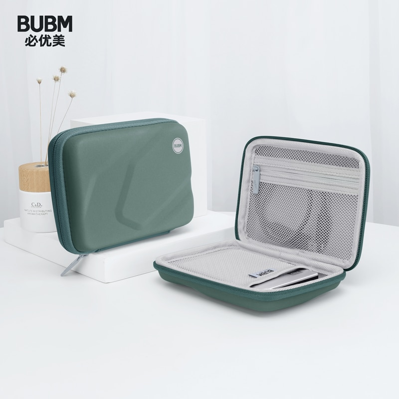 BUBM New External Hard Drive Case Power Bank Protection Box USB Gadgets Cables Wires Organizer HDD Protection Storage Bag
