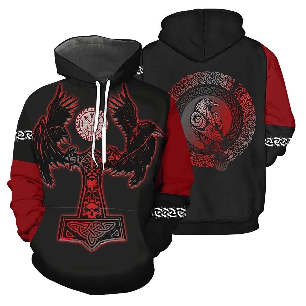 PLstar Cosmos Viking Tattoo 3D All Over Printed Shirts Tees 3D Print Hoodie/Sweatshirt/Zipper Man Women eagle cross Tattoo