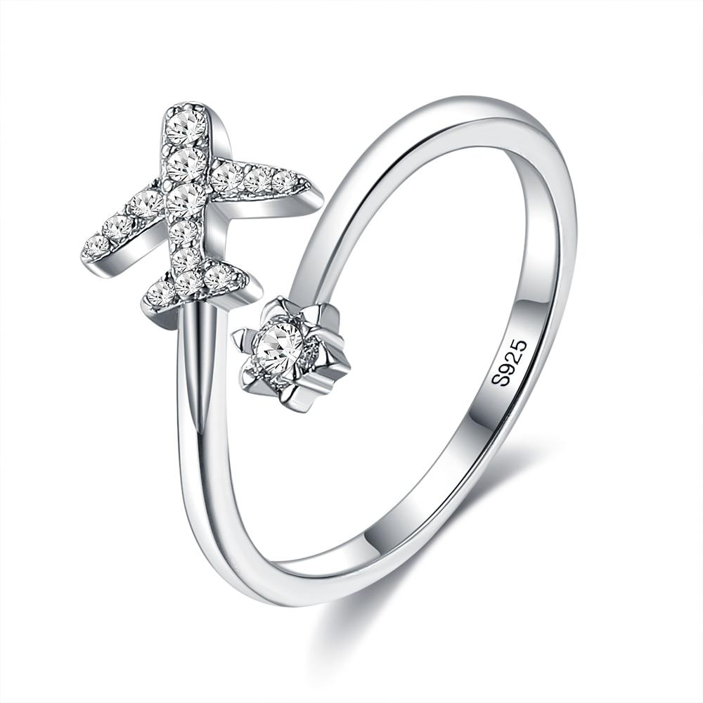 Женское-Открытое-кольцо-в-виде-летающего-самолета-регулируемое-кольцо-из-серебра-925-пробы-с-кубическим-цирконием-подарок-на-день-рождения