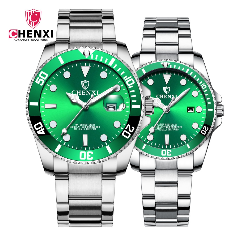 часы мужские CHENXI Green water ghost watch ladies and lovers wholesale  hot style men