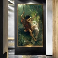 Peinture a lhuile sur toile dart Pierre Auguste Colt  affiches et imprimes  decoration de salon de maison