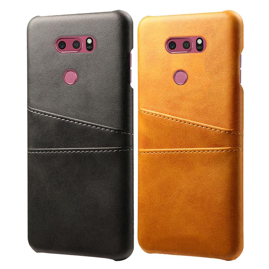 SCK fundas de cuero para teléfono con tarjetero para LG V10 V20 V30 V40 ThinQ