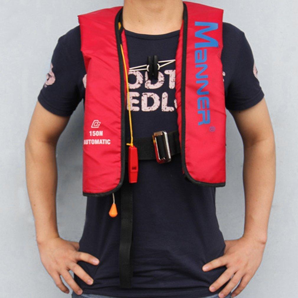 Jersey salvavidas inflable Manual y automático, deportes acuáticos para adultos, deportista, salvavidas para hacer surf en alta mar