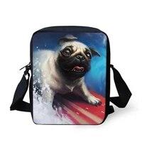 flaps messenger bags small women bags cute girls crossbody bag little bulldogs prints pattern fashion shoulder purses
