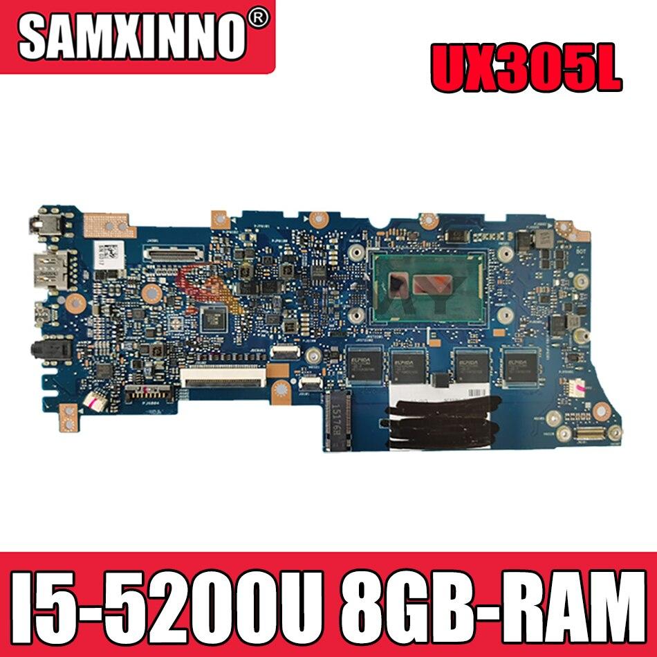 UX305L ل ASUS Zenbook UX305LA UX305LA_MB اللوحة الأم للكمبيوتر المحمول U305L اختبار اللوحة الرئيسية OK I5-5200U وحدة المعالجة المركزية 8GB-RAM