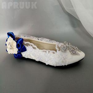 White flats shoes woman handmade plus size 41 42 ladies female bridal bridesmaid flower girl crystal bow dress flats shoes women