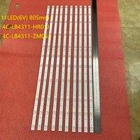20pcslot led backlight bar for tcl 43s6500fs 43s6500 43s423 43s421 thomson 43ud6426 4c lb4311 hr01j zm05j gic43lb32_3030f2 1d
