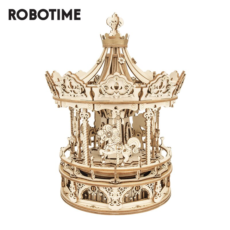 Robotime Rokr-صندوق موسيقى خشبي ثلاثي الأبعاد ، أحجية خشبية ثلاثية الأبعاد ، نموذج بناء ، ألعاب أطفال ، هدايا عيد ميلاد AMK62