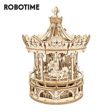 Robotime Rokr Music Box 3D Wooden Puzzle Game Assembly Model Building Kits Toys for Children Kids Bi
