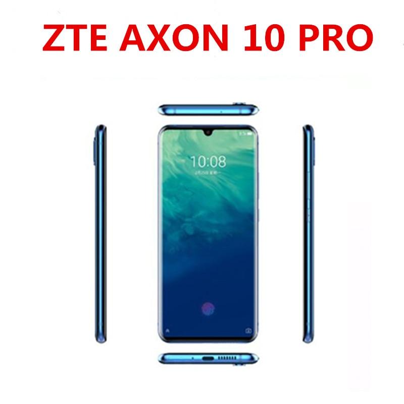 "DHL entrega rápida ZTE Axon 10 Pro teléfono celular Snapdragon 855 Android 9,1 de 6,47 ""IPS 2340x1080 12GB de RAM 256GB ROM 48.0MP"