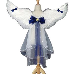 Cosplay Angel Feather Wings Prop Christmas Halloween Show Costume Stage Show Princess Back halloween costume for kids