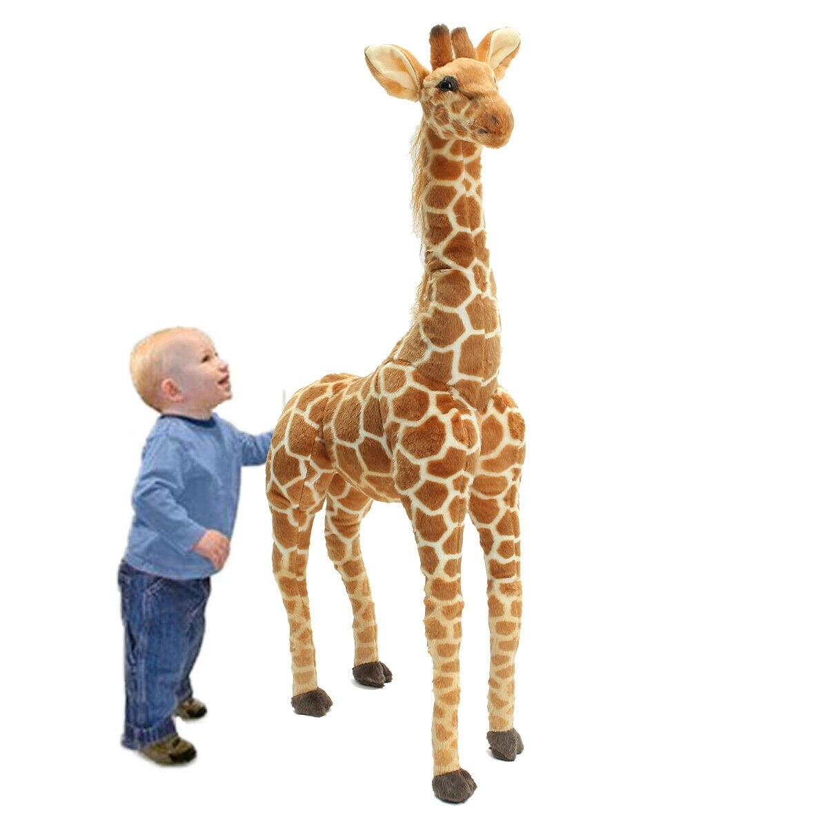 Us 40 big big grande pelúcia girafa brinquedo boneca gigante grande animal de pelúcia macio boneca presente do miúdo